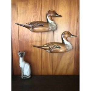 True Vintage Artisan Handmade Ducks Artist Signed
